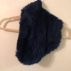 Accessories - Dark teal faux fur infinity scarf